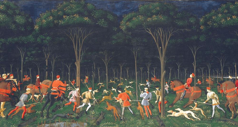 dans-quel-musee-est-conservee-l-oeuvre-la-chasse-de-nuit-peinte-par-paolo-uccello-en-1470