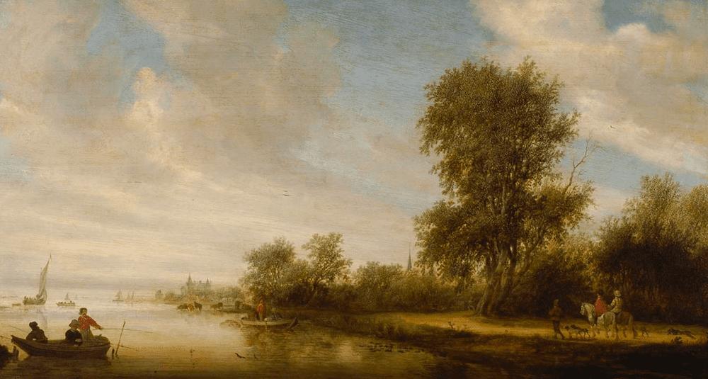 ou-est-exposee-l-oeuvre-paysage-fluvial-peinte-par-salomon-van-ruysdael