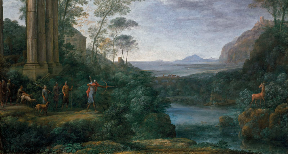quel-peintre-a-realise-paysage-avec-ascanius-tirant-le-cerf-de-sylvia-en-1682