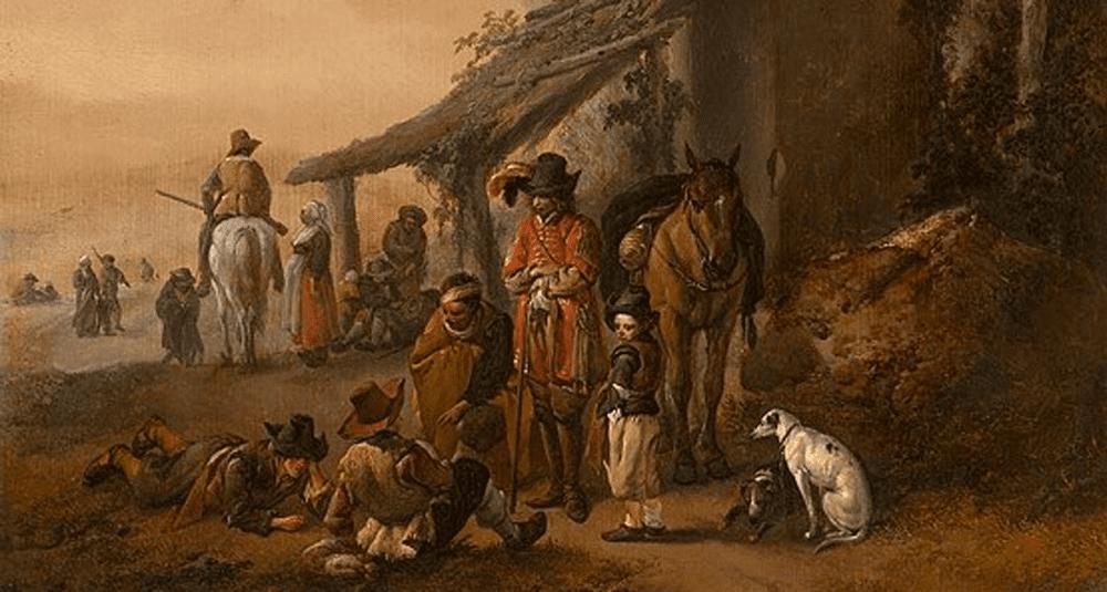 quel-peintre-neerlandais-a-realise-la-halte-du-cavalier