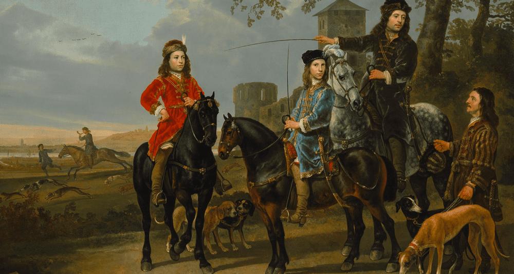 quel-peintre-neerlandais-a-realise-portrait-equestre-de-cornelis-et-michiel-pompe-van-meerdervoort-avec-leur-tuteur-et-cocher