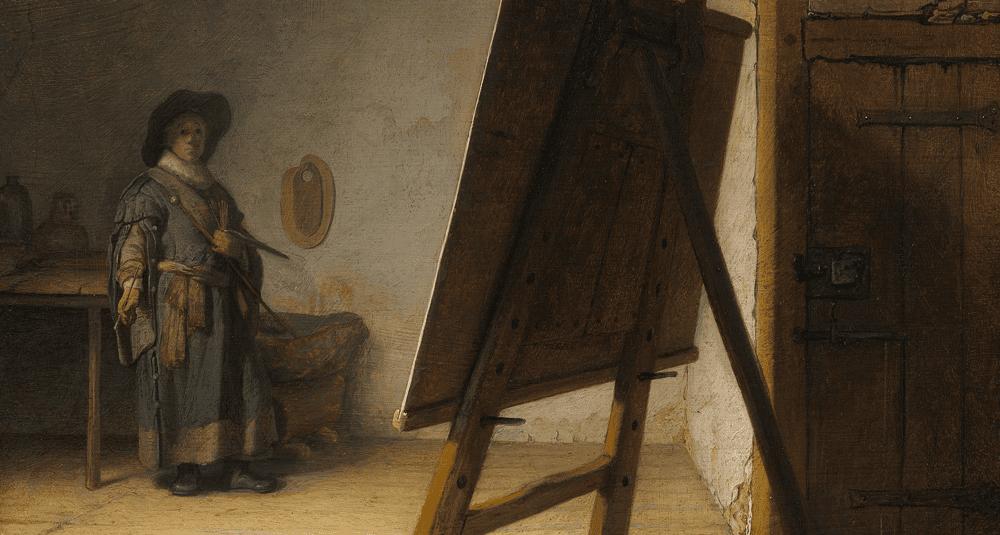en-quelle-annee-rembrandt-a-t-il-peint-l-oeuvre-le-peintre-dans-son-atelier