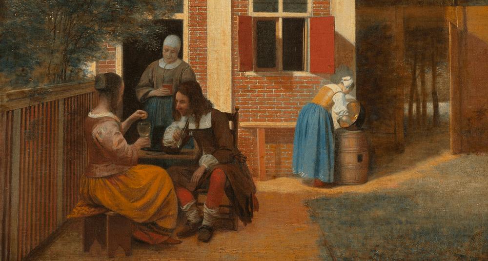 quel-peintre-neerlandais-a-realise-personnages-dans-une-arriere-cour